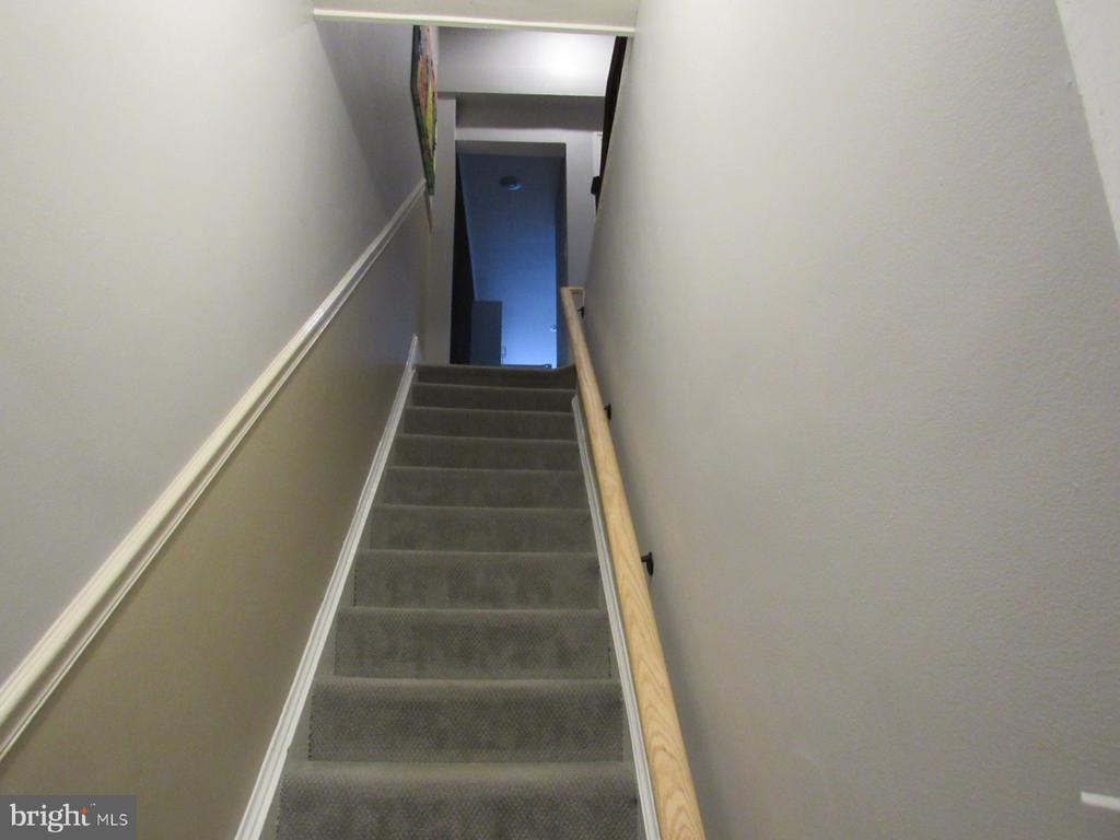 Stairwell to the second apartment - 1440 S ST NW, WASHINGTON