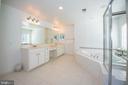 Master Bathroom - double vanity - 11413 RAMSBURG CT, NORTH POTOMAC