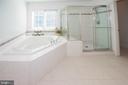Master Bathroom - soaking tub & shower - 11413 RAMSBURG CT, NORTH POTOMAC