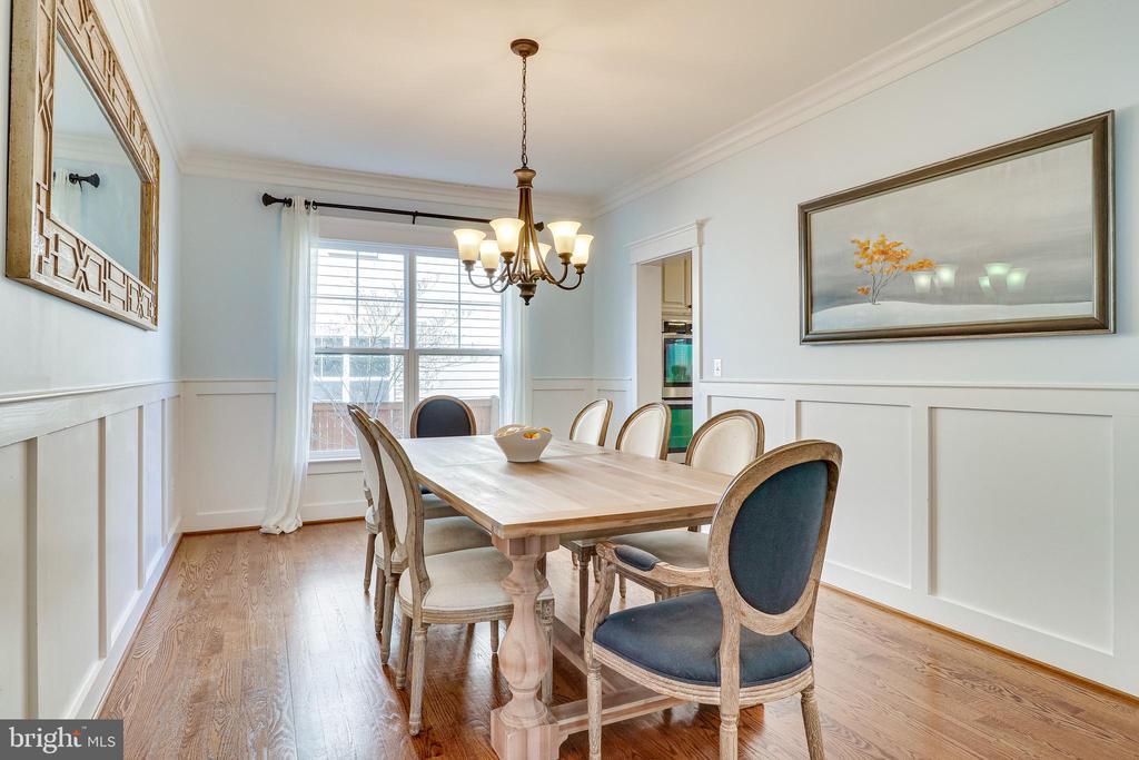 Formal dining room - 8069 FAIRFAX RD, ALEXANDRIA