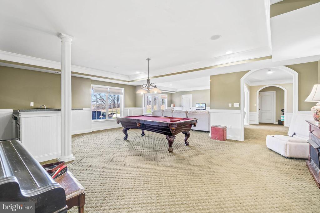 Fully Finished Lower Level, Entertainer's Delight! - 11170 GEORGES MILL RD, LOVETTSVILLE