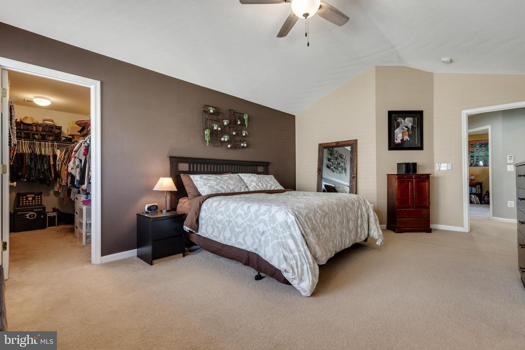 Primary bedroom features vaulted ceilings - 15659 ALTOMARE TRACE WAY, WOODBRIDGE