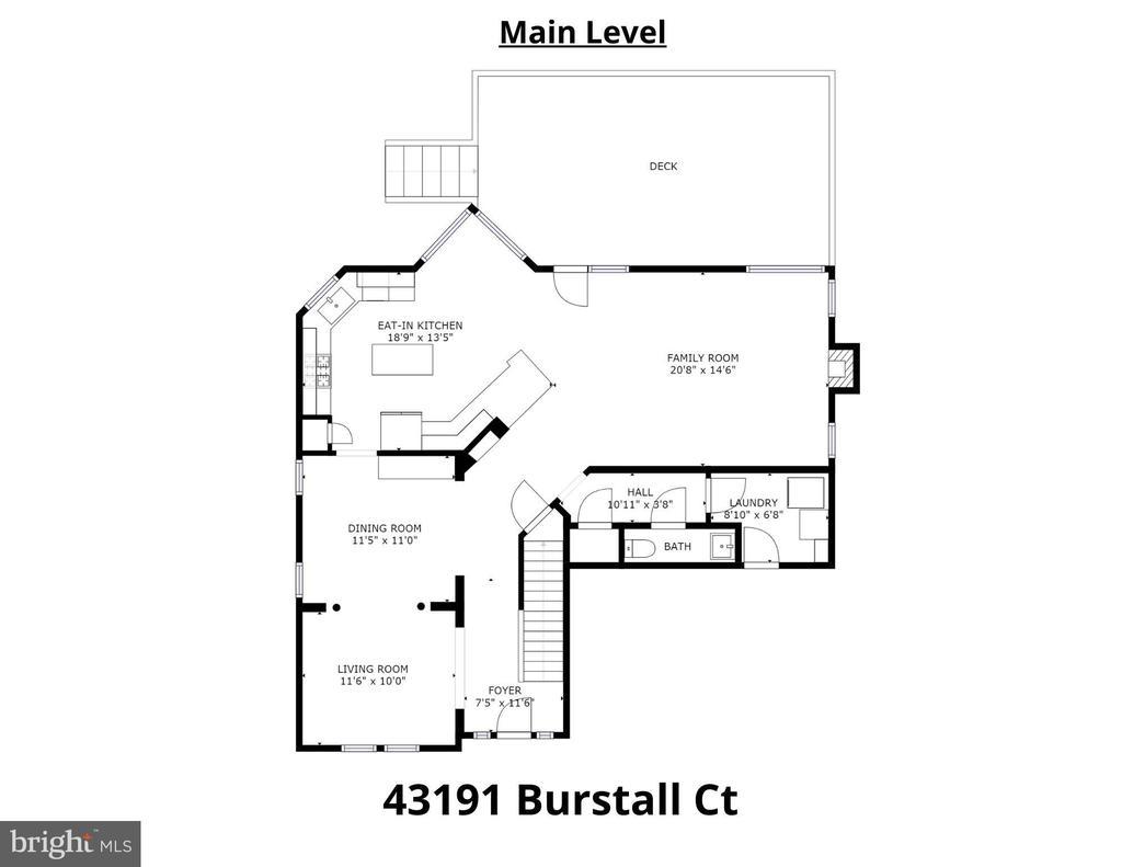 Main Level Floorplan - 43191 BURSTALL CT, LEESBURG