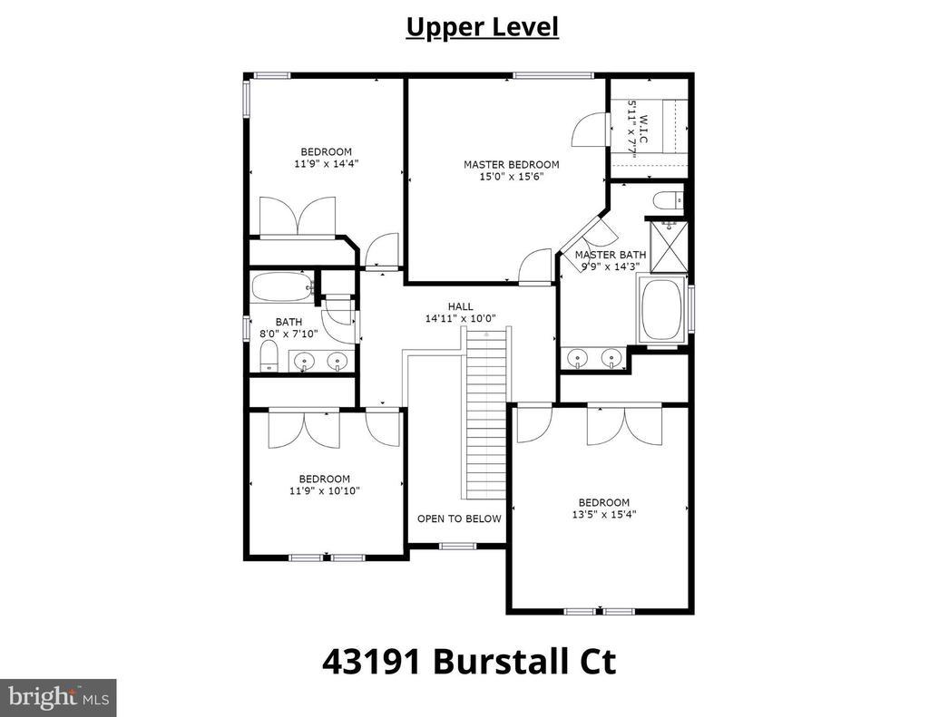 Upper Level Floorplan - 43191 BURSTALL CT, LEESBURG