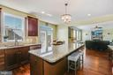 Extended Island in the kitchen - 21251 FAIRHUNT DR, ASHBURN