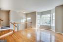 Family room w/ hardwood - 206 CROSSING RD, FREDERICKSBURG