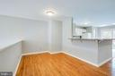 Dining room with hardwood - 206 CROSSING RD, FREDERICKSBURG