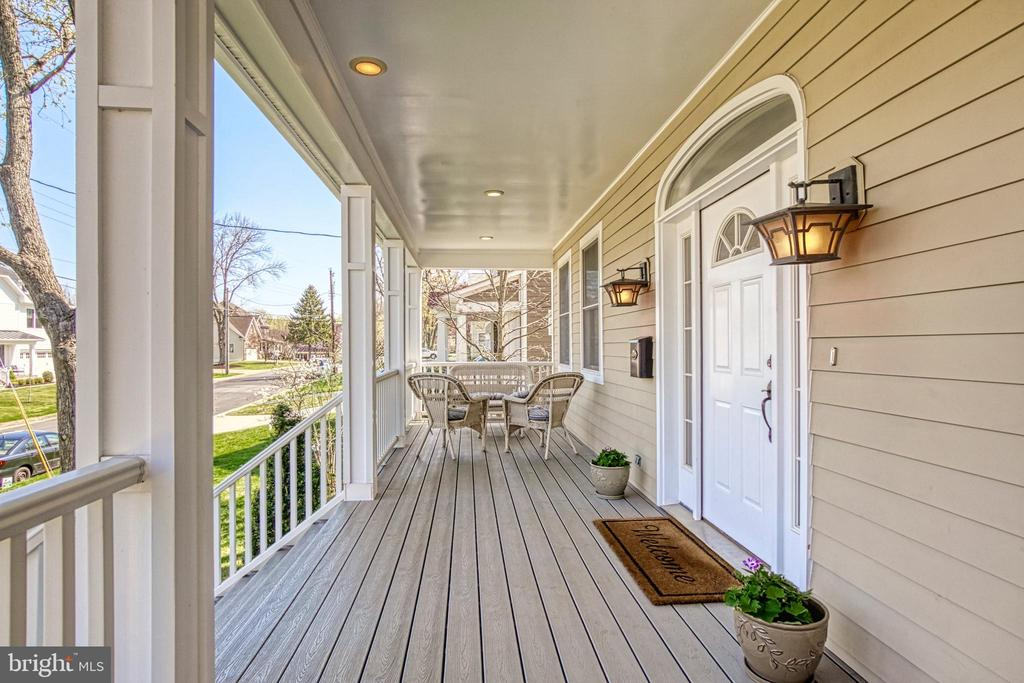 Spacious Trex front porch. Perfect for relaxing! - 6519 ELMHIRST DR, FALLS CHURCH