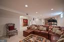 Plush carpet & recessed lighting - 9326 MAINSAIL DR, BURKE