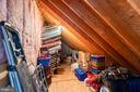 Extra attic storage upstairs - 3 LEGAL CT, STAFFORD
