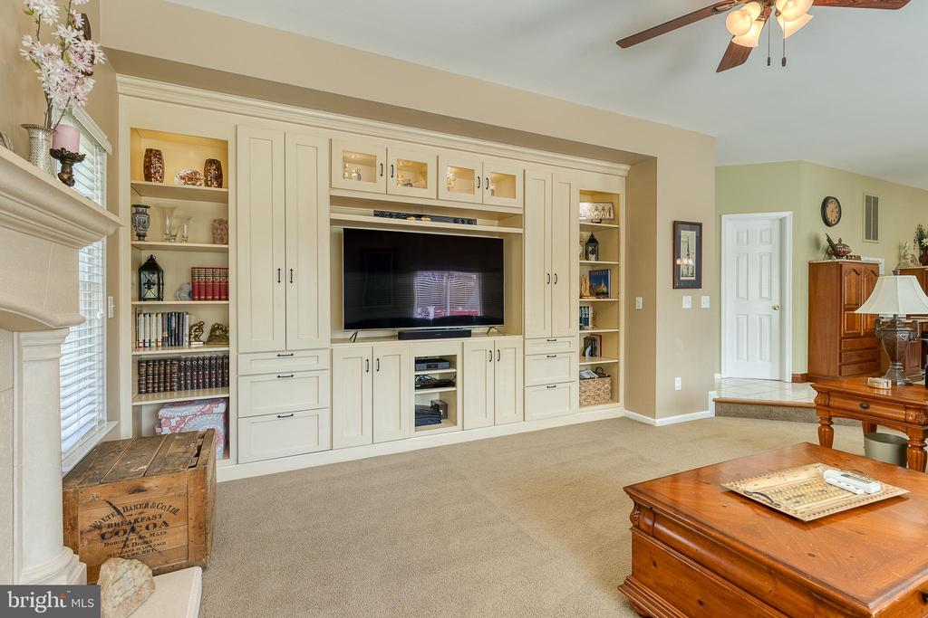 Built ins with cabinet lighting - 3 LEGAL CT, STAFFORD