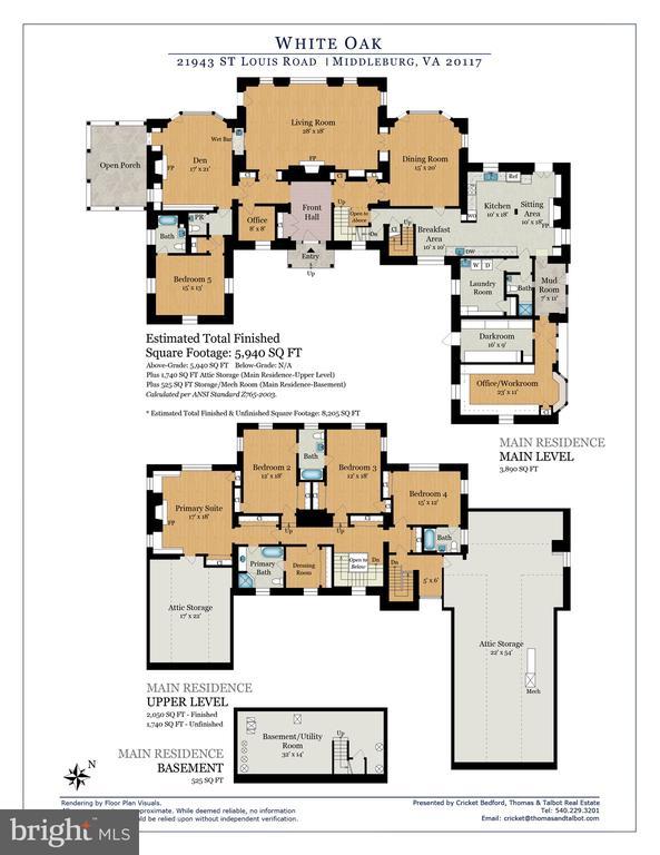 White Oak Main House Floor Plan - 21943 ST LOUIS RD, MIDDLEBURG