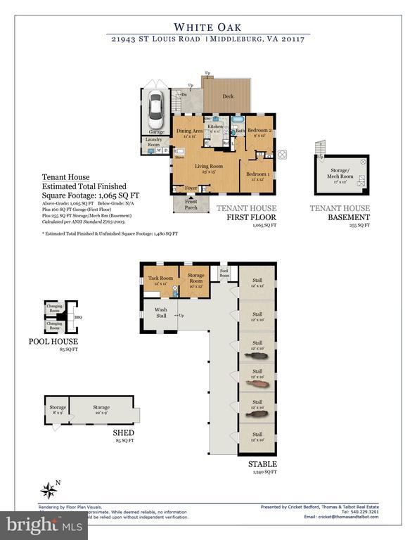 White Oak Tenant House & Stable Floor Plan - 21943 ST LOUIS RD, MIDDLEBURG
