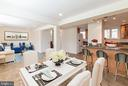 Dining Rm & Family Rm (Virtual staging) - 8522 CYRUS PL, ALEXANDRIA
