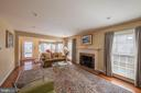 Cozy family room with fireplace - 5207 BRAYWOOD DR, CENTREVILLE