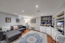 Renovated Basement Rec Room - 1500 N KENILWORTH ST, ARLINGTON