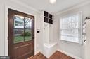 Mudroom Entry with Built-ins - 1500 N KENILWORTH ST, ARLINGTON