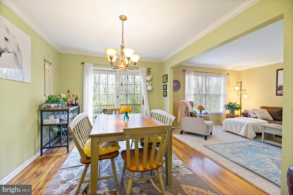 Dinning Room-Open to Sitting Room - 16 MCPHERSON CIR, STERLING