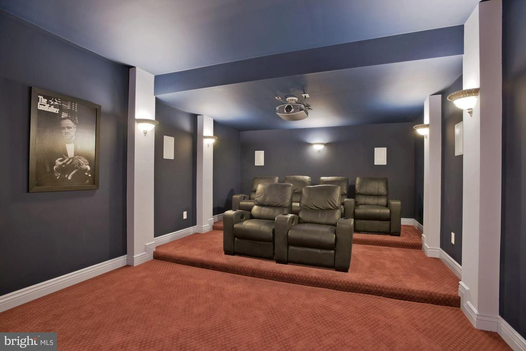 Home Theater Includes Seating and Equipment - 19979 BELMONT STATION DR, ASHBURN