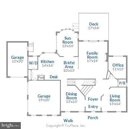 Main Level Floor Plan - 18315 SEA ISLAND PL, LEESBURG