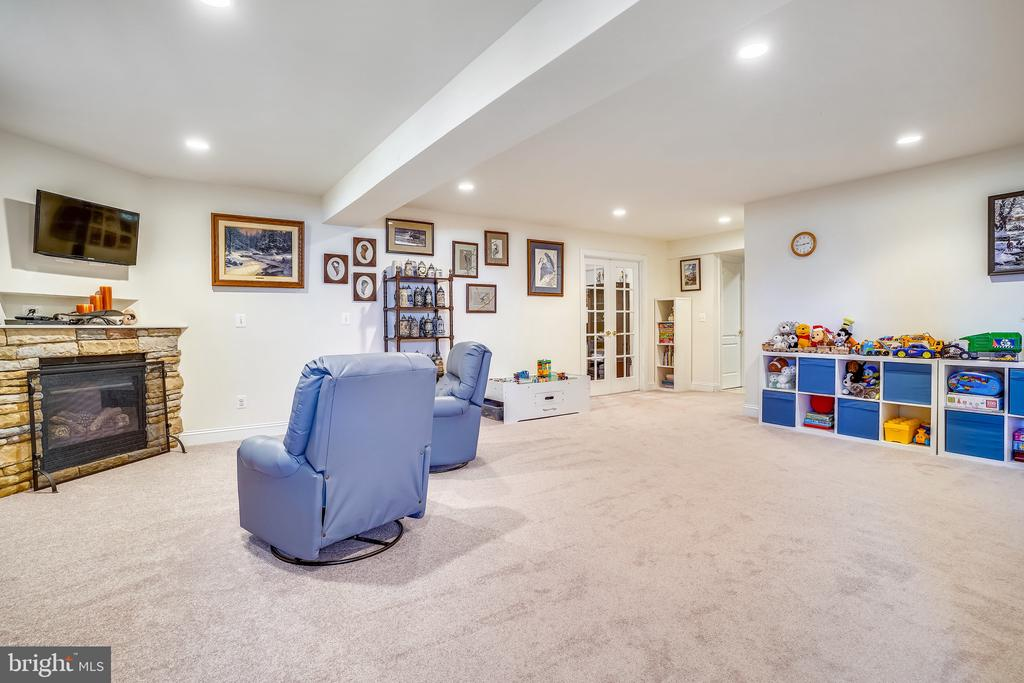 Large Rec Room with Fireplace - 18315 SEA ISLAND PL, LEESBURG