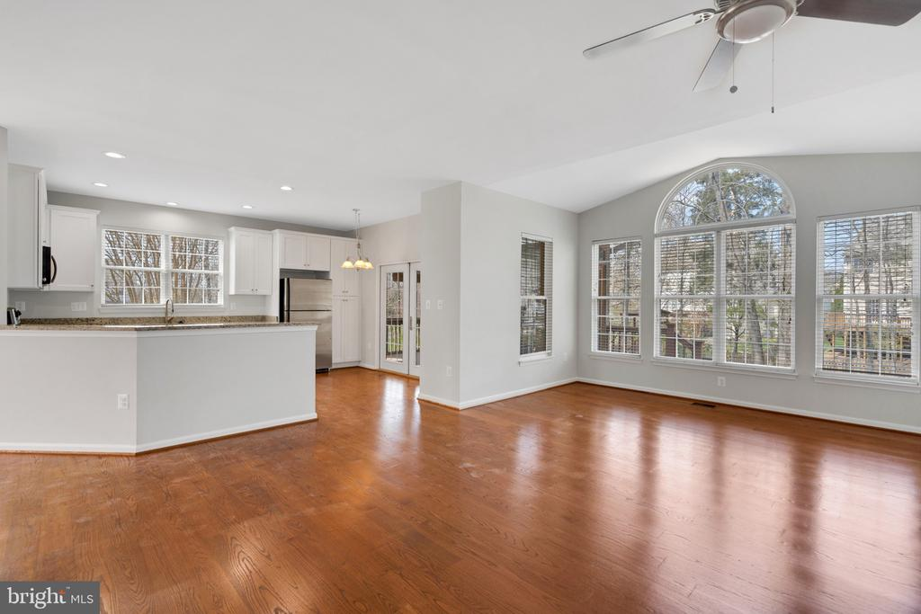 Family room with entire wall of windows - 43446 RANDFIELD LN, CHANTILLY