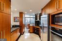 Cherry cabinets / marble flooring - 1530 KEY BLVD #128, ARLINGTON