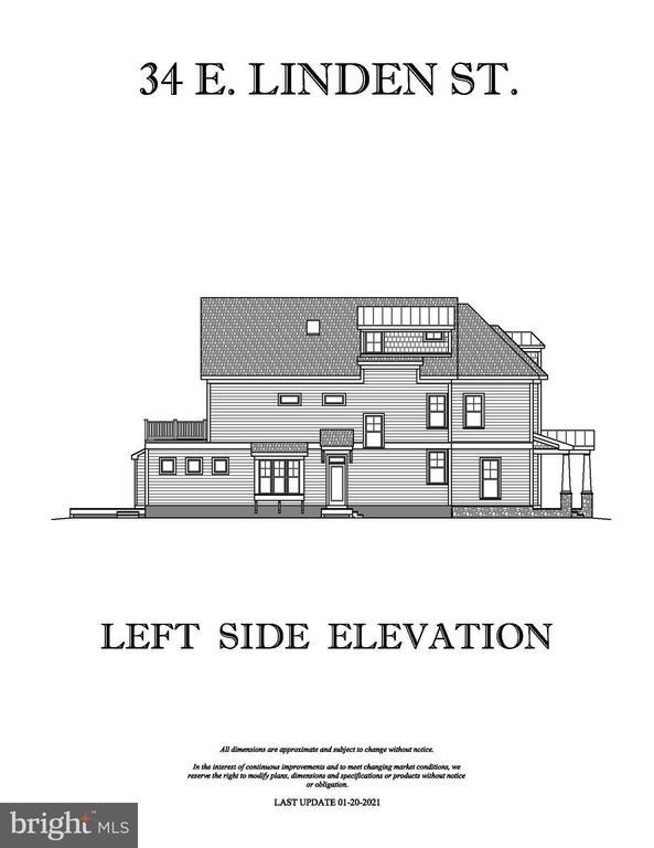 LEFT SIDE ELEVATION - 34 E LINDEN ST, ALEXANDRIA