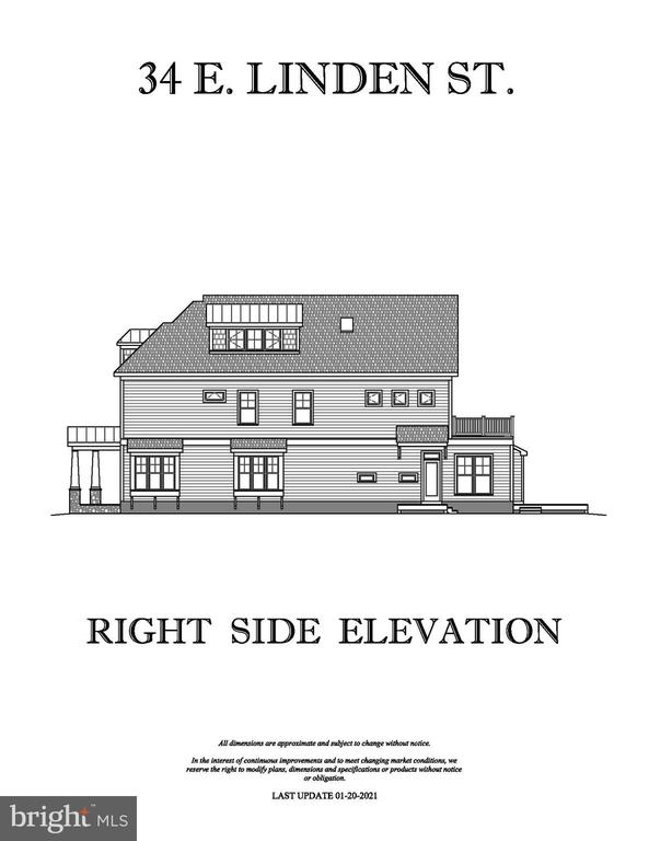 RIGHT SIDE ELEVATION - 34 E LINDEN ST, ALEXANDRIA