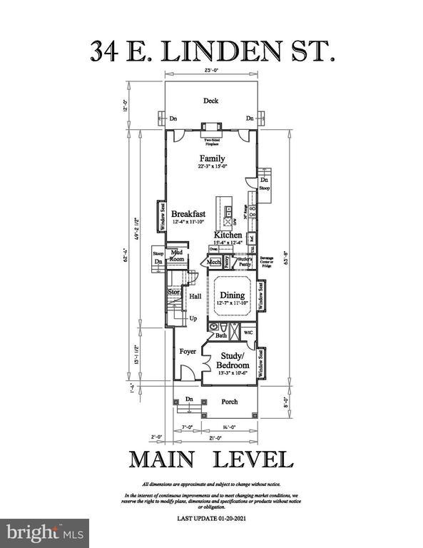 MAIN LEVEL FLOOR PLAN - 34 E LINDEN ST, ALEXANDRIA