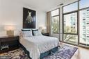 Master bedroom with floor to ceiling windows - 1177 22ND ST NW #4G, WASHINGTON