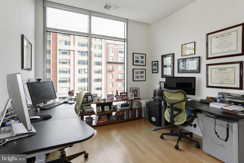 Second bedroom with floor-to-ceiling windows - 1177 22ND ST NW #4G, WASHINGTON