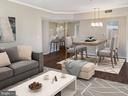 Living/Dining room (virtual stage) - 1641 INTERNATIONAL DR #104, MCLEAN