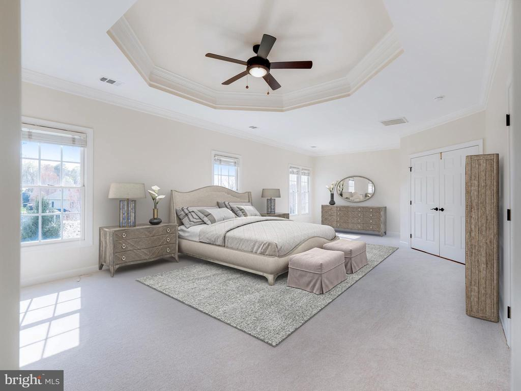 Primary bedroom - virtually staged - 20443 STONE SKIP WAY, STERLING