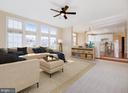 Family room - virtually staged - 20443 STONE SKIP WAY, STERLING