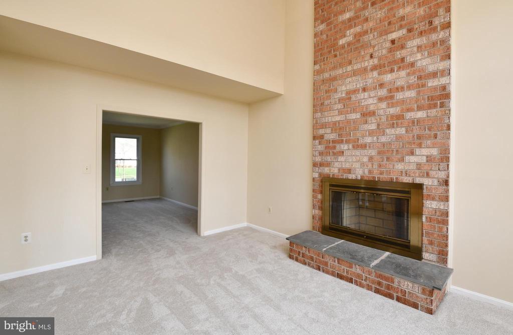 Woodburning fireplace - 5316 DUNLEIGH DR, BURKE