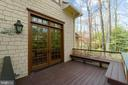 Charming deck off of Owners bedroom - 817 MACKALL, MCLEAN