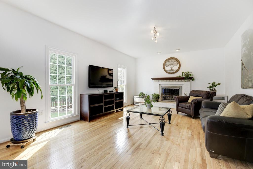 Family Room with Wood Burning Fireplace - 42969 DEER CHASE PL, ASHBURN