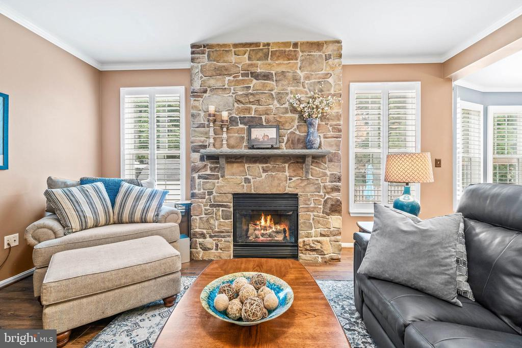 Hand Crafted Stone Fireplace - 4170 MCCLOSKEY CT, CHANTILLY