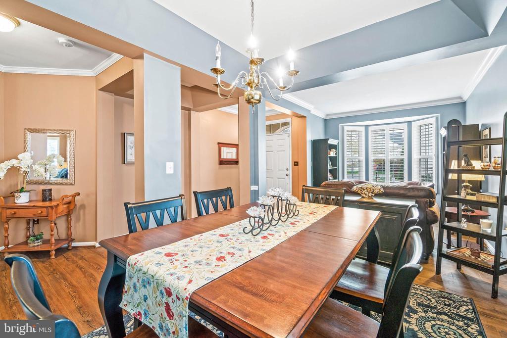 Dining Room toward Foyer & Living Room - 4170 MCCLOSKEY CT, CHANTILLY