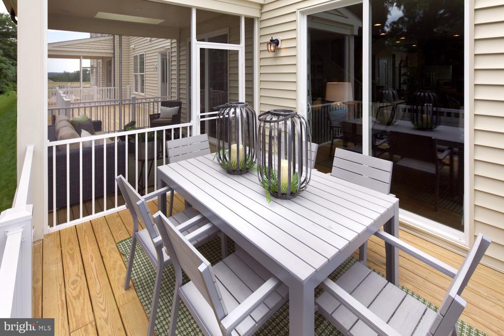 Optional deck/patio - 7307 WILDWOOD CT, COLUMBIA