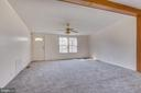carpet, ceiling fan and decorative accent beams - 53 CAMP HILL LN, HARPERS FERRY