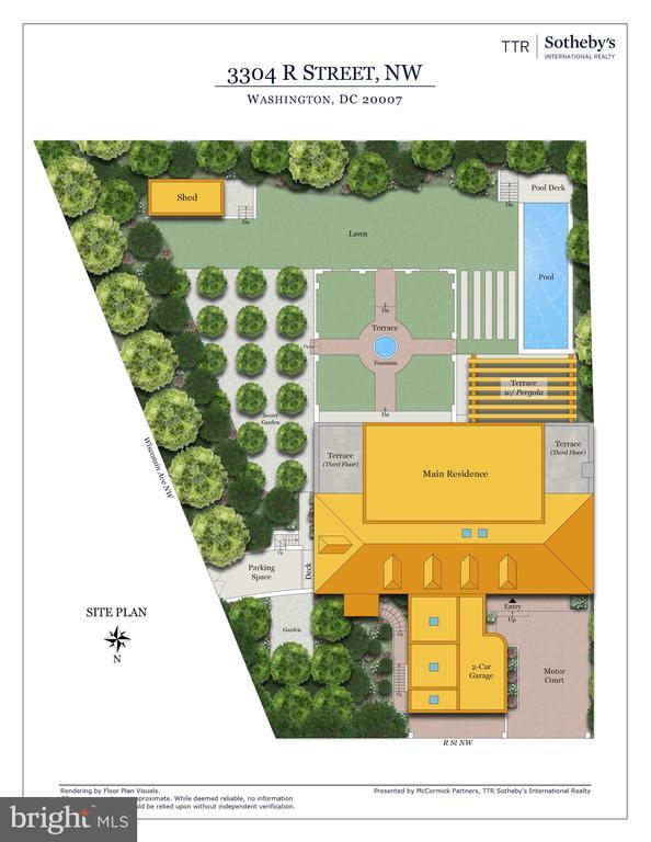 Site Plan - 3304 R ST NW, WASHINGTON