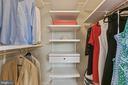 Walk-in closet with Elfa System. - 888 N QUINCY ST #802, ARLINGTON