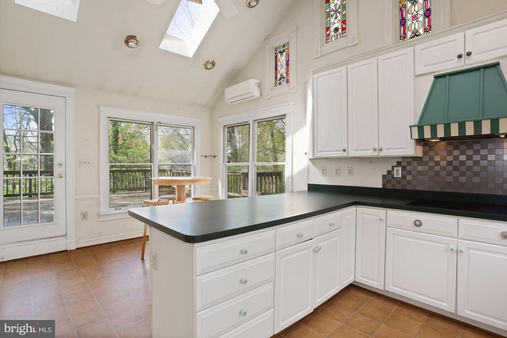 Gorgeous stained-glass windows - 7704 IDYLWOOD RD, FALLS CHURCH