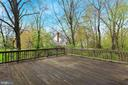 Large elevated deck with unparalled privacy - 7704 IDYLWOOD RD, FALLS CHURCH