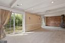Large finished basement with double sliding doors - 7704 IDYLWOOD RD, FALLS CHURCH