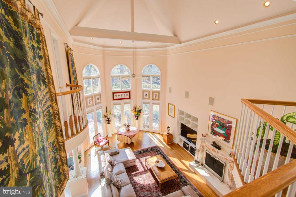 Juliet Balcony Overlooking Family Room - 220 VIERLING DR, SILVER SPRING