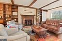 Family Room - Those Beams! That Fireplace! - 11007 HOWLAND DR, RESTON