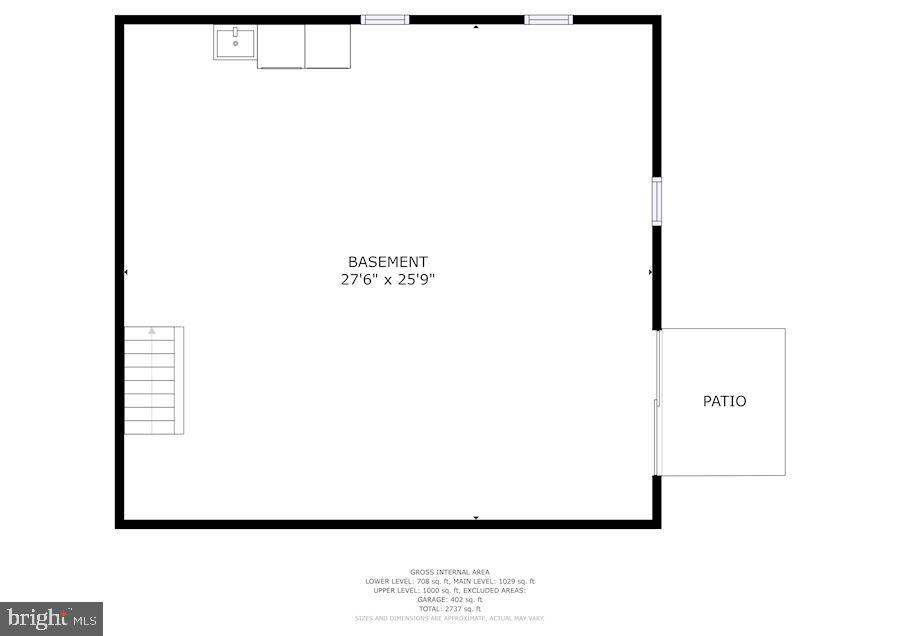 Floor Plan - Lower Level - 11007 HOWLAND DR, RESTON